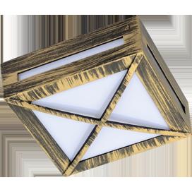 Светильник GX53 3083W Квадрат с решеткой, металл