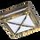 Thumbnail: Светильник GX53 3083W Квадрат с решеткой, металл