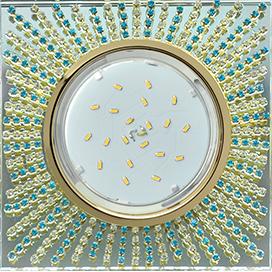 Встраиваемый светильник GX53 H4 5352 Квадрат со стразами, стекло