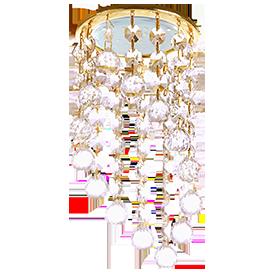 Встраиваемый светильник GX53 H4 5344 круг с большими хрусталиками на подвесе