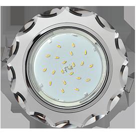 Встраиваемый светильник GX53 H4 5313 Круг с вогнутыми гранями, металл-стекло