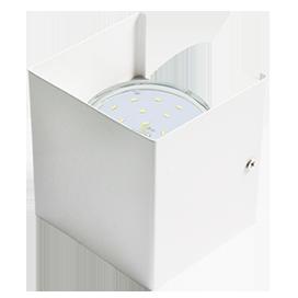 Светильник настенный прямоугольный (Бра) GX53-N51, металл