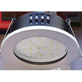Светильник Gx53 H9 защищенный IP65,металл, стенкло