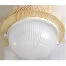Ecola GX53 LED НБО-03-60-021 светильник Круг накладной дерево