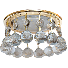 Встраиваемый светильник GX53 H4 5346 круг с большими хрусталиками