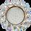 Thumbnail: Встраиваемый светильник GX53 H4 5342 круг с большими хрусталиками, стекло