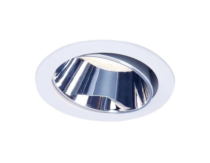 NEW Встраиваемый поворотный точечный светильник TN113 WH/CH белый/хром