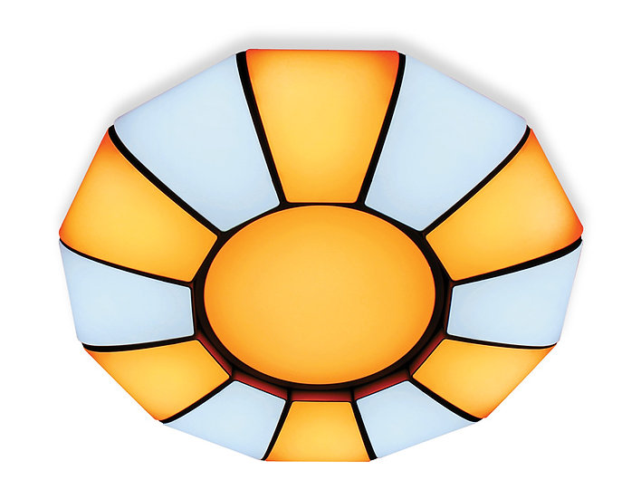 Потолочный светодиодный светильник с пультом FP2311 WH 114W
