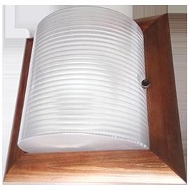 Ecola GX53 LED НББ-04-60-022 светильник Квадрат накладной дерево