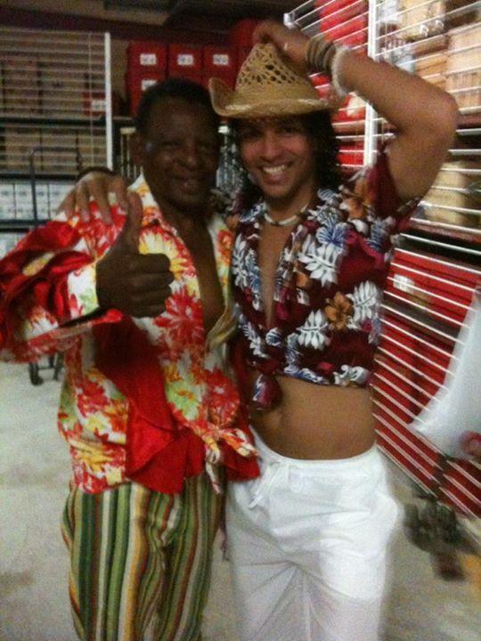 Facebook - Jean claude and his dancer y'all :p