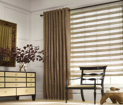 Grommet-Drapery-and-Natural-Roman-Shade