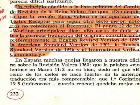 ¿Cuál Biblia en Inglés corrigió tu Biblia en Español?