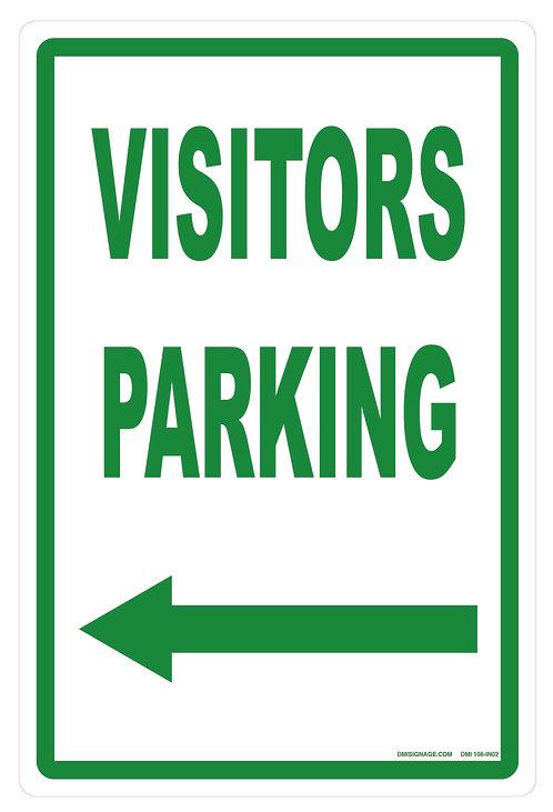 Visitors Parking Left Arrow