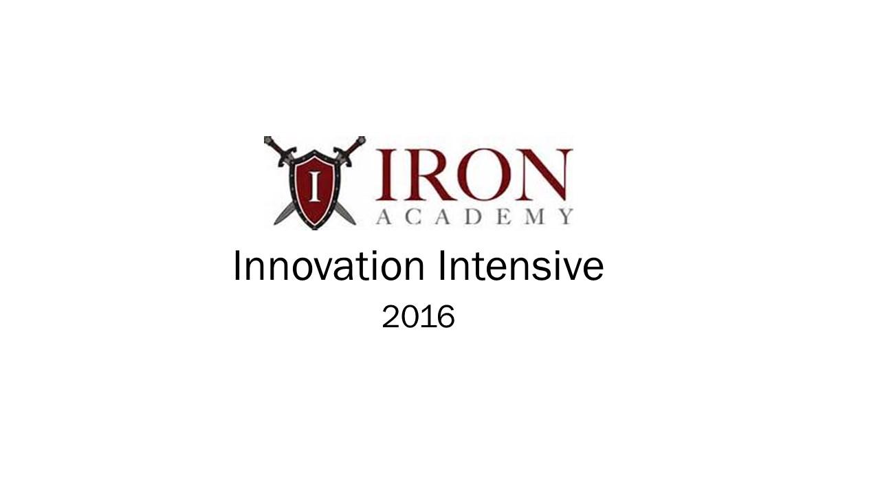 IA Innovation Intensive 07232016