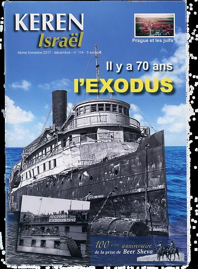 Keren n°114 : Il y a 70 ans l'Exodus