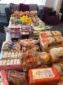 We have food donated from Aldi today. An