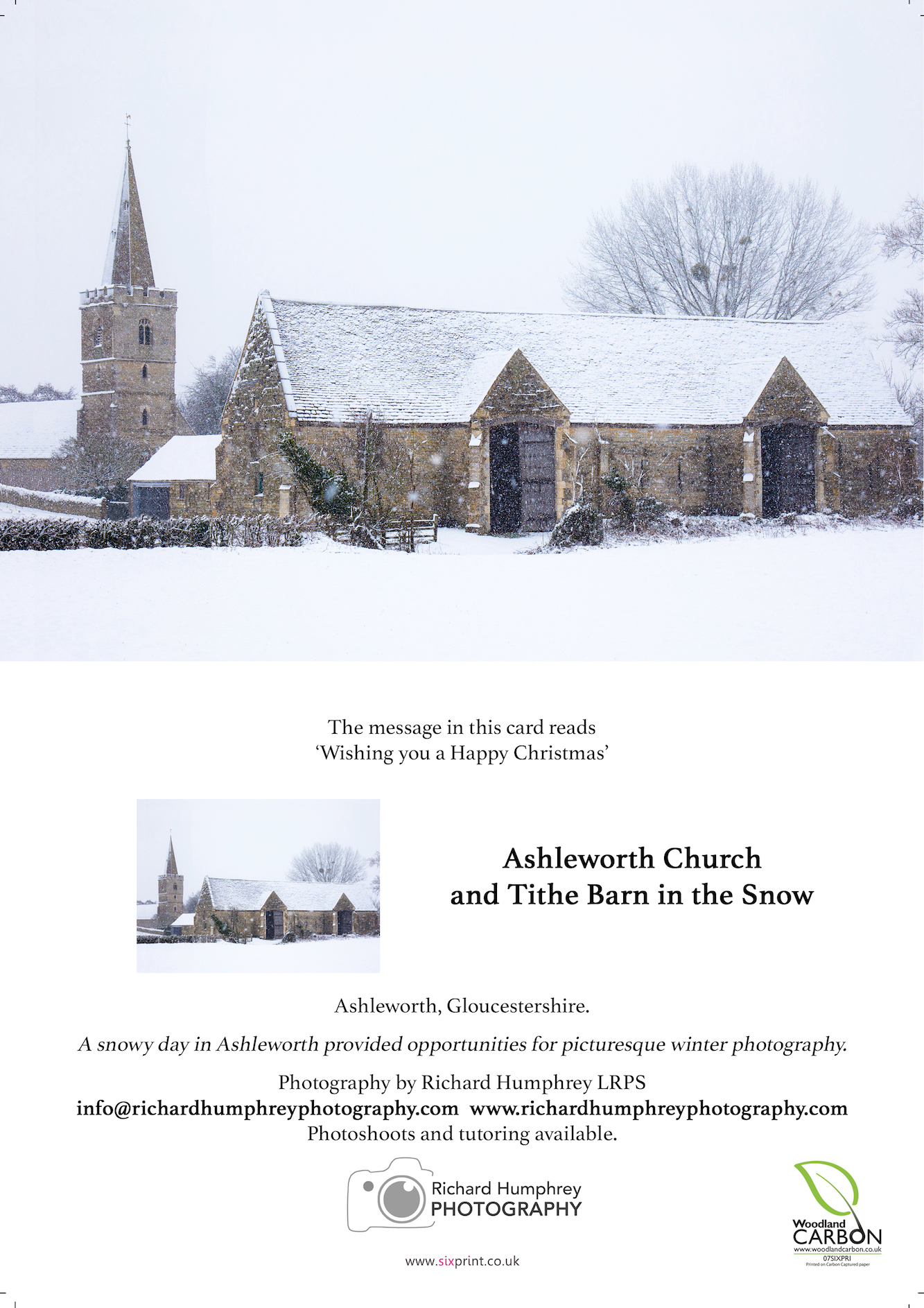 Church and Tithe Barn in Snow