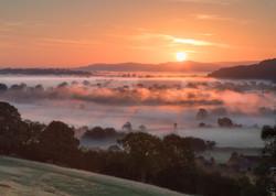 Towards Ashleworth at Dawn