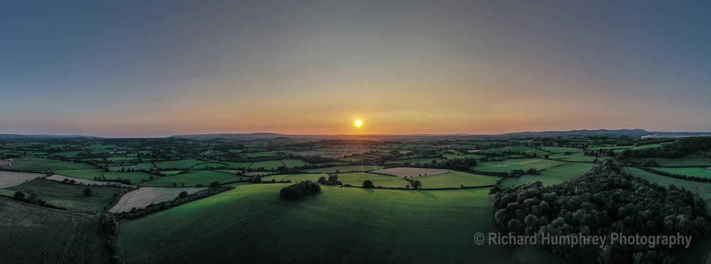 Sunset over Barrow Hill - DJI2