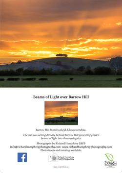 Beams of Light over Barrow Hill