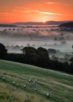 Sunrise over Ashleworth