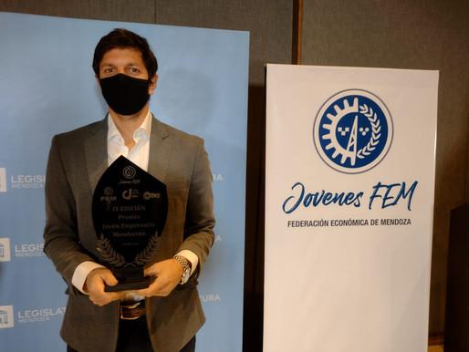 Gastón Ragazzone ganó el Premio Joven Empresario Mendocino 2020