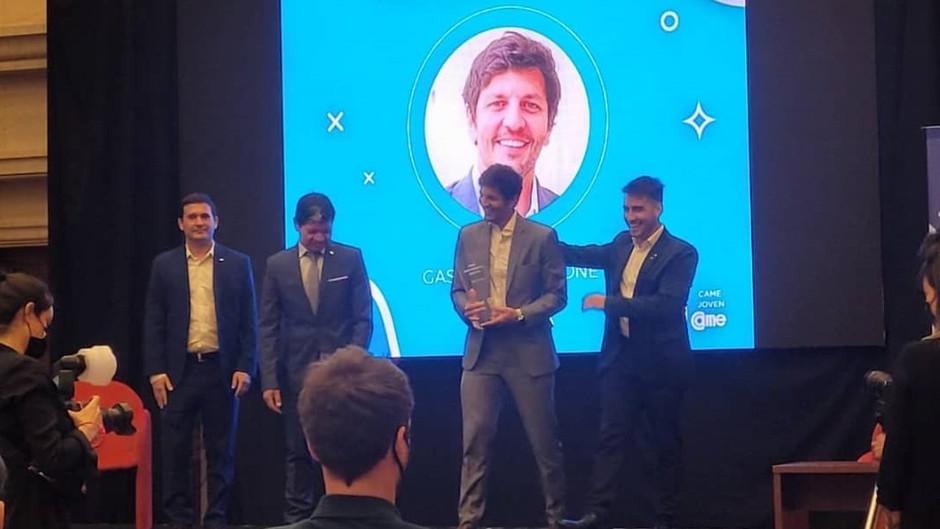 El mendocino Gastón Ragazzone ganó el Premio Joven Empresario Argentino