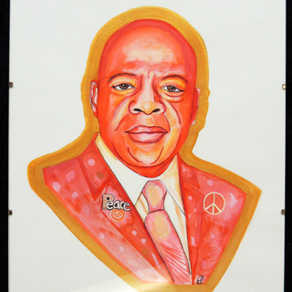 A Call for Peaceful Action: Portrait of John Lewis in Memorium