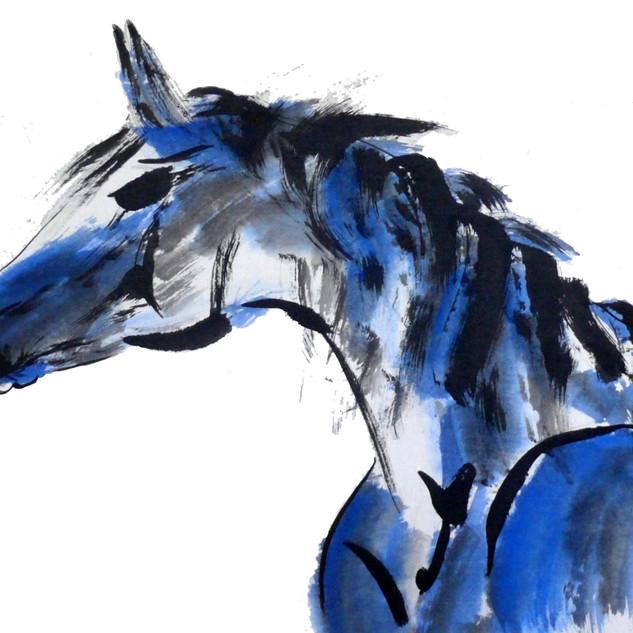 PATRICIA SANTUCCI blue horse.jpg
