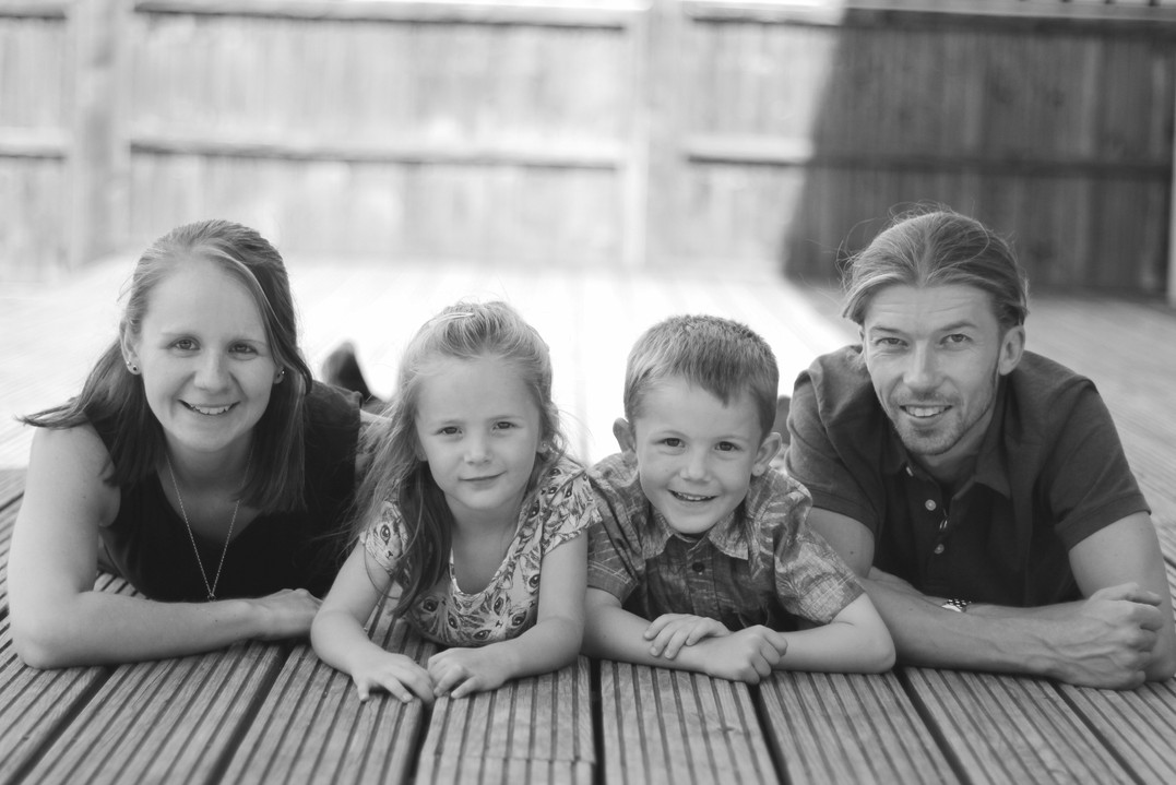 Family portrait, family photography, black and white