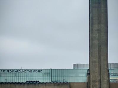 London around the Tate Modern and the Millennium Bridge just before lockdown