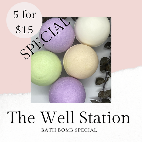 Bath Bomb Special - 5 for $15