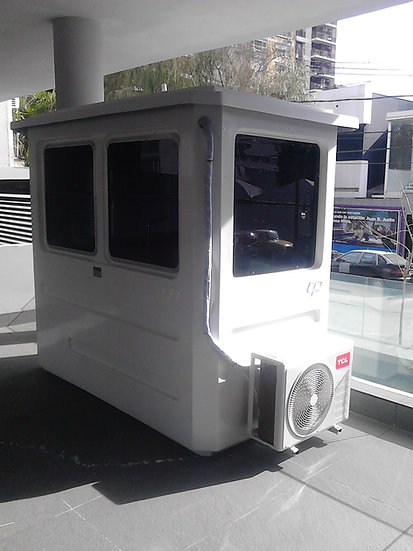 3) Cabina de vigilancia DOBLE 1300 x 2300 x 2150 mm (H)