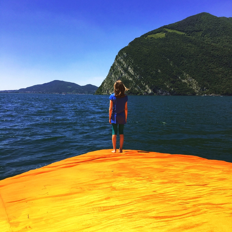 Maria at The Floating Piers
