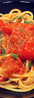 ミニトマトとバジルのトマトパスタ