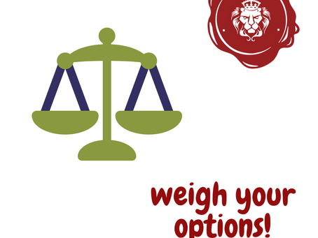 COVID19 Update: Weigh Your Options