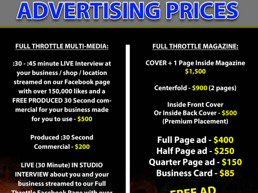 It's deadine , give us a call for all your advertising and events !