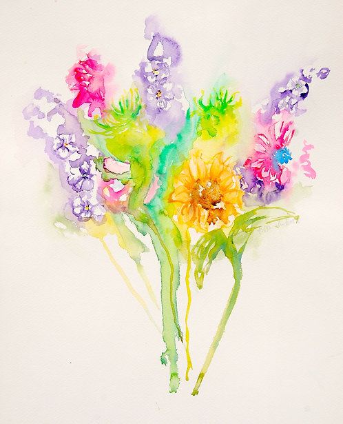 Bouquet - 4 pack notecards