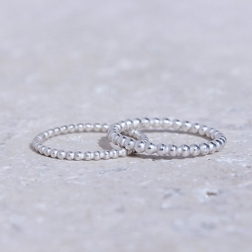 Garonnette, anneau perlé