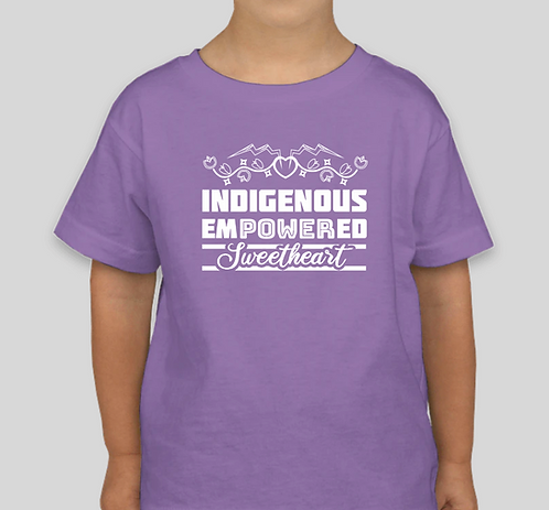 TODDLER/YOUTH Indigenous Empowered Sweetheart - LAVENDER