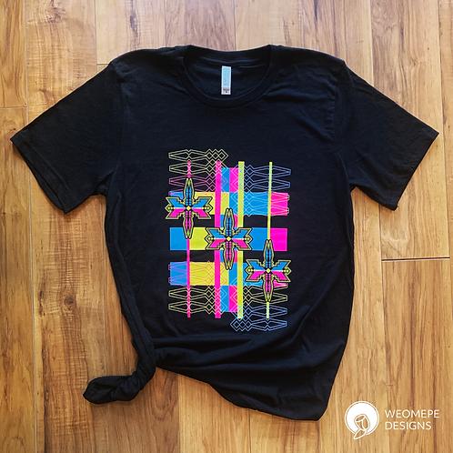 CMYK Geo Flo - Unisex T-shirt - Black Heather