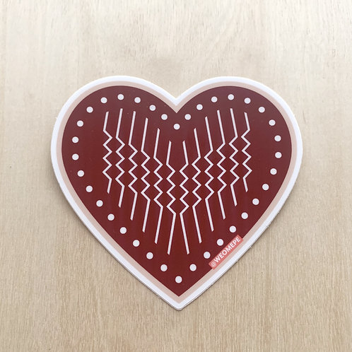 "Weomepe ""Love Love"" Heart Sticker - 3"""