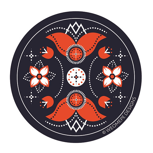 3 inch Circle Sticker - Floral Weomepe