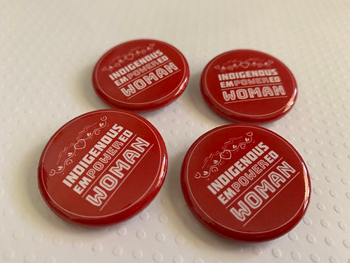 1- inch Button - Indigenous Empowered Woman