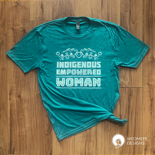 Indigenous Empowered Woman - Unisex T-shirt - Heathered Teal
