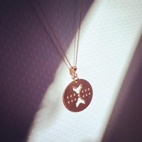 Fire - Copper Pendant Necklace