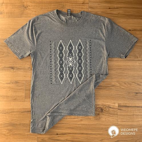 Bright Midnight Sky - Unisex T-shirt - Grey
