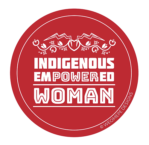 3 inch Circle Sticker - Indigenous Empowered Woman