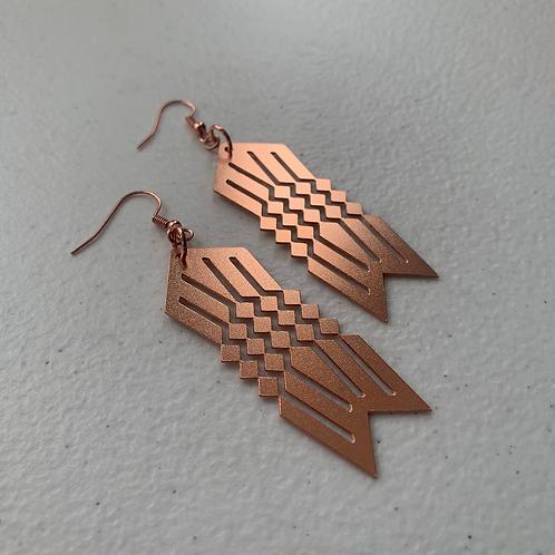 Water Design - Copper Earrings