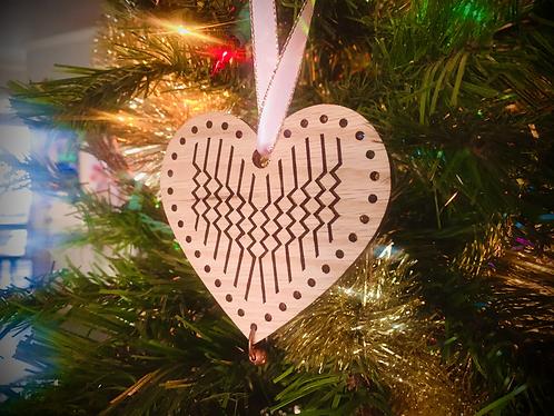2020 Weomepe Heart Ornament